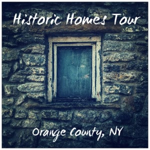 Old stone building with one window and text Historic Homes Tour - image by greg willson www.unsplash.com