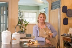 Dena Finneran in the kitchen of Caldwell House Bed and Breakfast