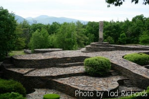 Sculpture landscape at Opus 40 Gardens
