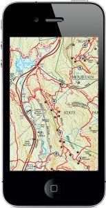 Trail Conference Maps on an iPhone