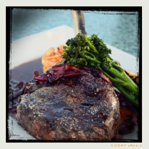 Gourmet plate of steak with greens - photo by alex mussel www.unsplash.com