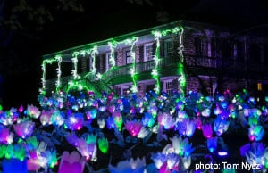 Van Cortlandt Manor lit up for Lightscapes show
