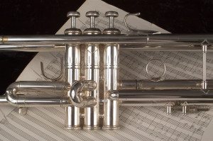 Military Trumpet and Sheet Music