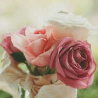 Beautiful bouquet of pink, white and peach roses. Photo by  Josh Felise unsplash.com