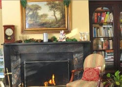 Image of the parlor at the Caldwell House Bed and Breakfast
