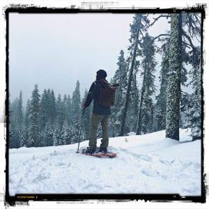 Man snowshoeing - photo by Juan Arreguin on www.unsplash.com